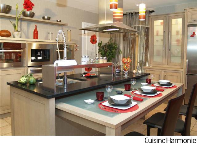La cuisine moderne fonctionnelle et d corative deco 21 for Photos cuisine contemporaine