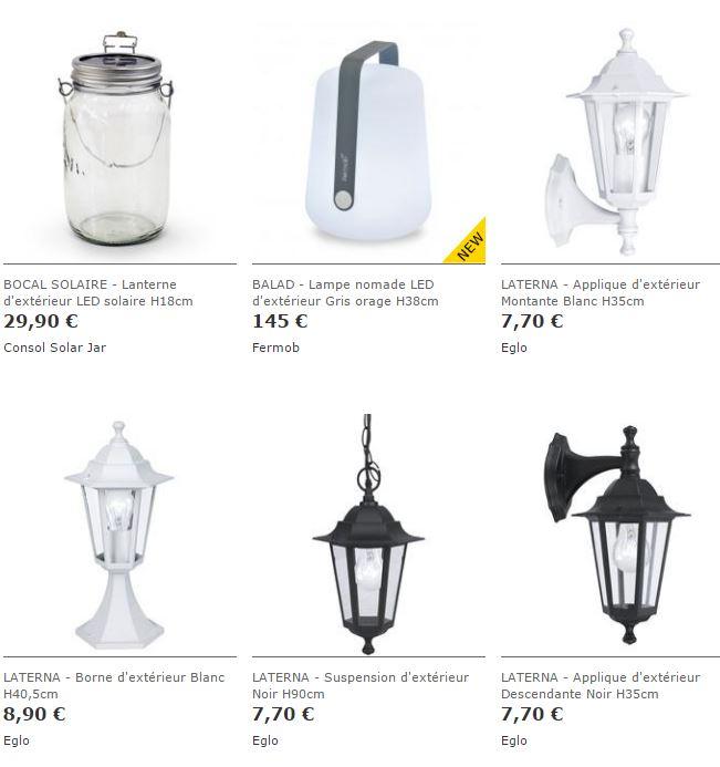 Idées luminaires extérieurs